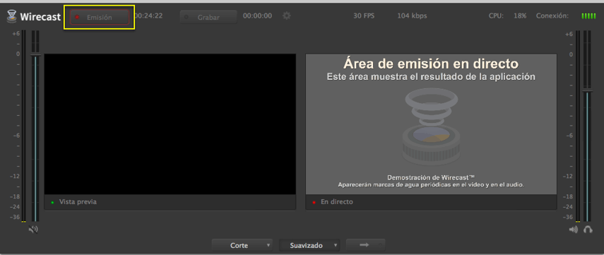 Emisión Wirecast